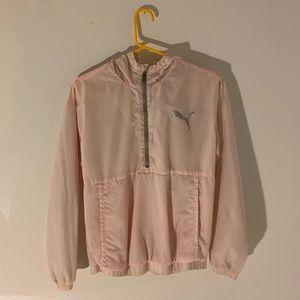 pink puma windbreaker
